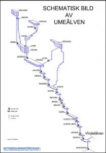 Umeälven schematisk karta